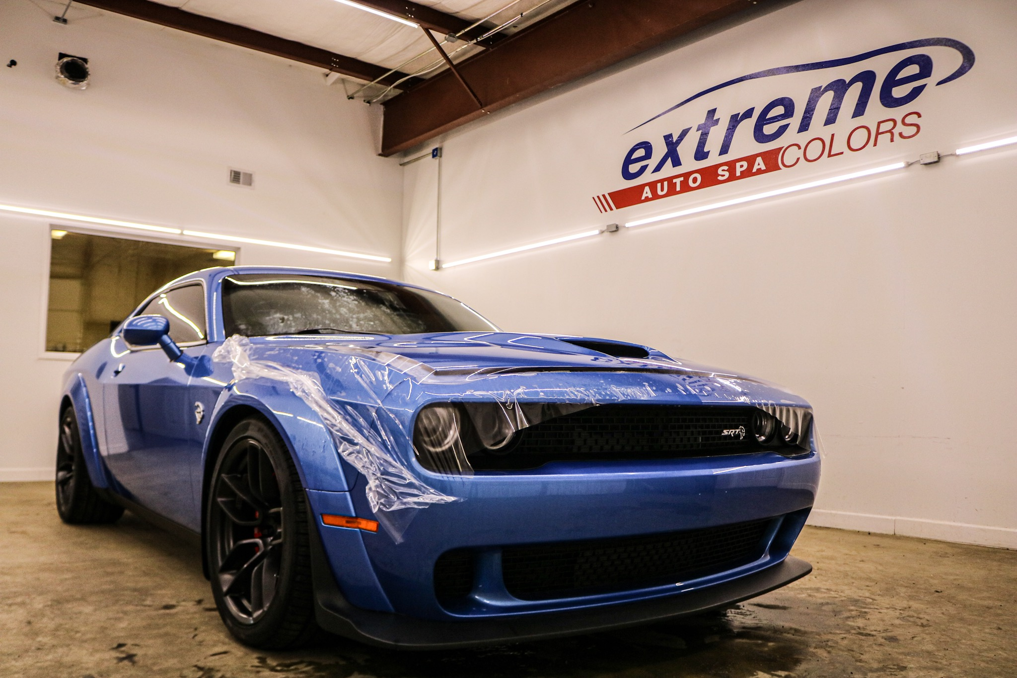 Widebody Dodge Hellcat Gets Ceramic Coating